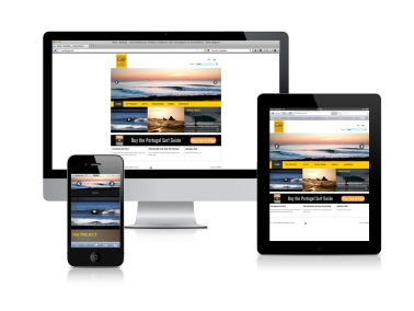 Criação de Responsive Website Portugal Surf Guide